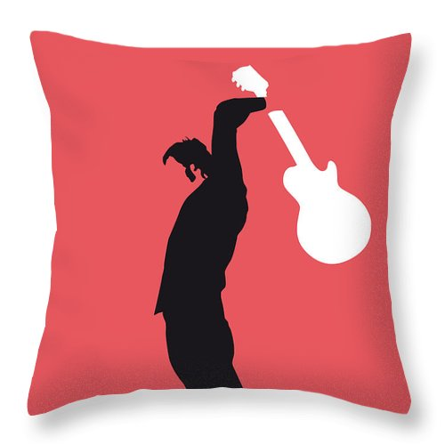 The Throw Pillow featuring the digital art No002 My The Who Minimal Music Poster by Chungkong Art
