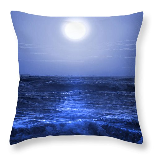 Ocean Throw Pillow featuring the photograph Ocean Blues by Cindy Haggerty
