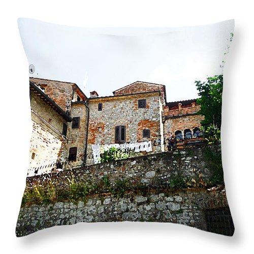 Italy Throw Pillow featuring the photograph Old Towns Of Tuscany San Gimignano Italy by Irina Sztukowski