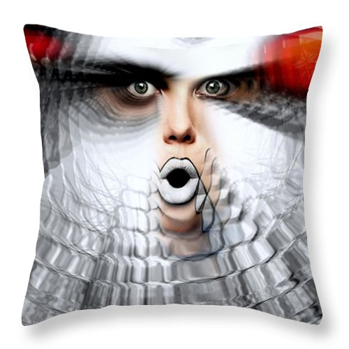 Omg Throw Pillow featuring the painting OMG by Rafael Salazar