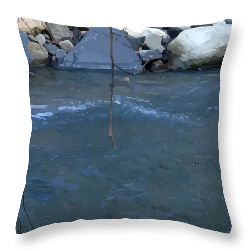 Throw Pillow featuring the digital art Outside Dafoi Triagex3 Art 9 Of 9 by Ruth Benoit