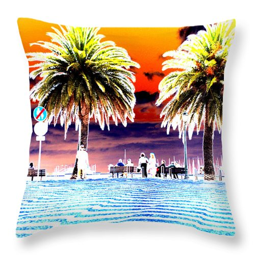 Photography In Ireland Throw Pillow featuring the photograph Wibbly Wobbles by Dave Byrne