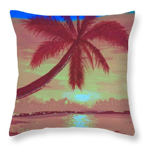 Paradise Throw Pillow featuring the painting Paraiso by Jose Lopez