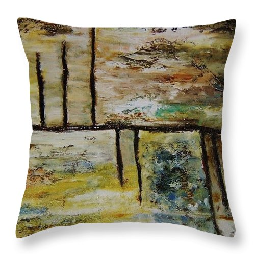 Parallel Throw Pillow featuring the painting Parallel by Vicki Pirtle