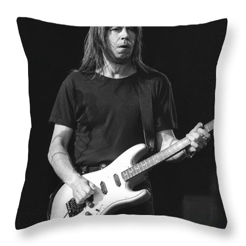 Canadian Throw Pillow featuring the photograph Guitarist Pat Travers by Concert Photos