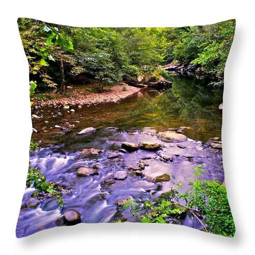 Peaceful Throw Pillow featuring the photograph Peace And Tranquility by Frozen in Time Fine Art Photography