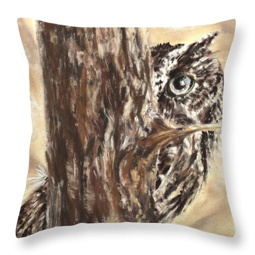 Great Throw Pillow featuring the painting Peek A Who by Sandy Brooks
