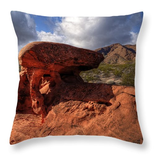 Piano Rock Throw Pillow featuring the photograph Piano Rock by Stephen Campbell