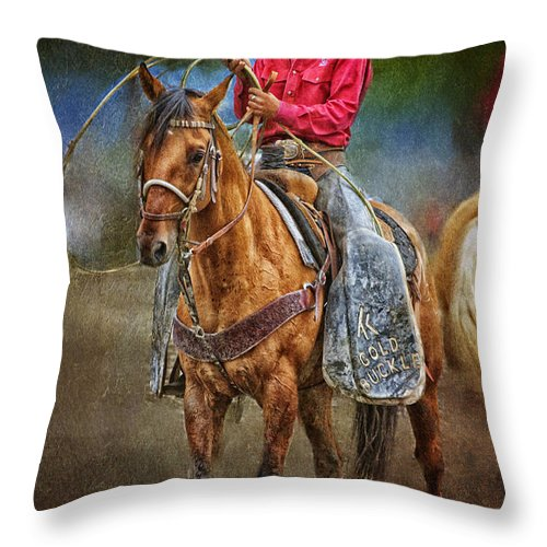 Equine Fine Art Throw Pillow featuring the photograph Pick Up Man by Annette Coady