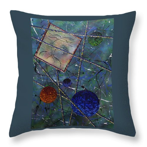 Fish Throw Pillow featuring the painting Pisces by Micah Guenther