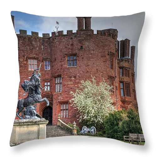 Powis Castle Throw Pillow featuring the photograph Powis Castle by Mickey At Rawshutterbug
