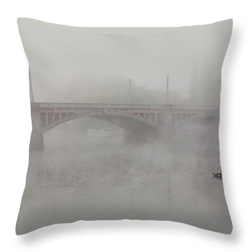 City Throw Pillow featuring the photograph Prague At Dawn by Jaroslaw Blaminsky