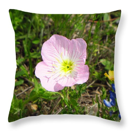 Pink Flower Throw Pillow featuring the photograph Pretty In Pink by Sherri McCollum