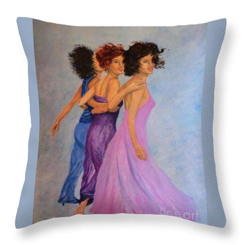 Primavera-painting Throw Pillow featuring the painting Primavera by Dagmar Helbig
