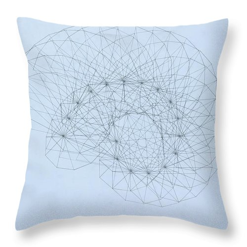 Jason Padgett Throw Pillow featuring the drawing Quantum Nautilus by Jason Padgett