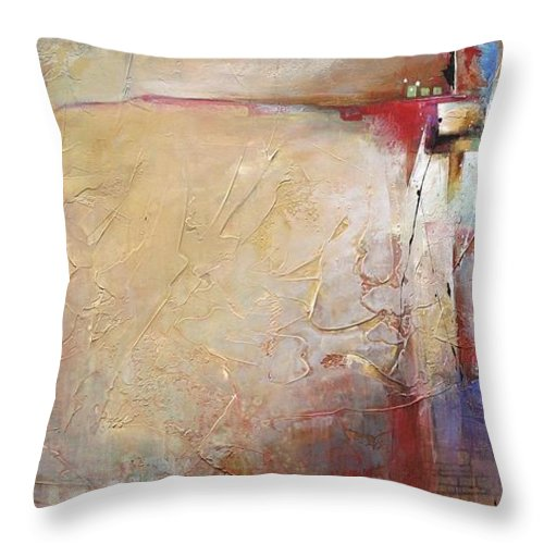 Acrylic Throw Pillow featuring the painting Redirected by Karen Hale