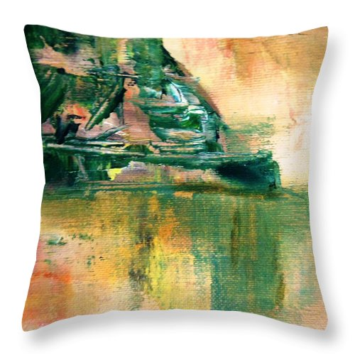 Paintings By Lyle Throw Pillow featuring the painting Reflections by Lord Frederick Lyle Morris - Disabled Veteran