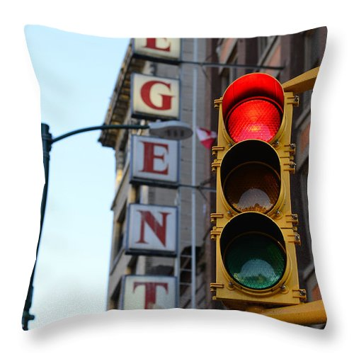 Vancouver Throw Pillow featuring the photograph Regent Hotel by The Artist Project