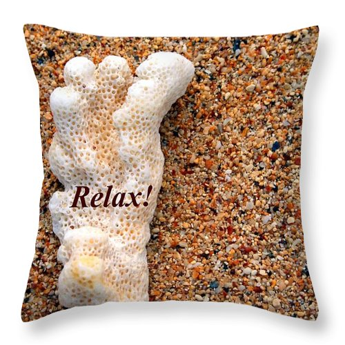 Sand Throw Pillow featuring the photograph Relax by Pharaoh Martin