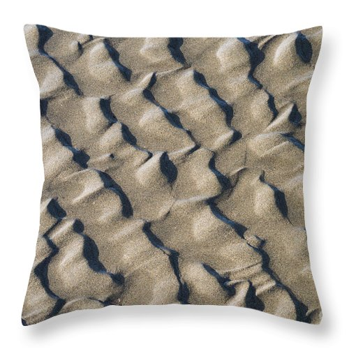 Nature Throw Pillow featuring the photograph Ripple Pattern On Mudflat At Low Tide by John Shaw
