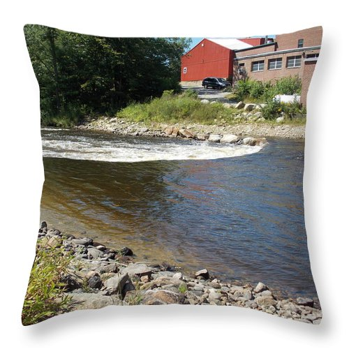Ashuelot River Throw Pillow featuring the photograph River Scene by Catherine Gagne