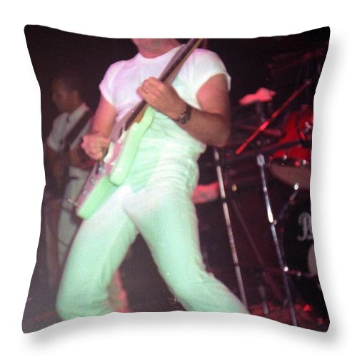 Ronnie Montrose Throw Pillow featuring the photograph Ronnie Montrose by Sheryl Chapman Photography