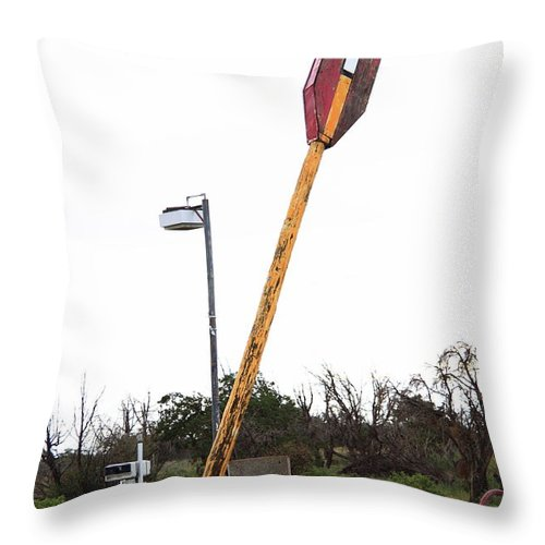 66 Throw Pillow featuring the photograph Route 66 - Twin Arrows Trading Post by Frank Romeo