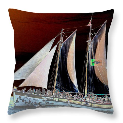 Macro Throw Pillow featuring the photograph Sailing In Hope by Dave Byrne