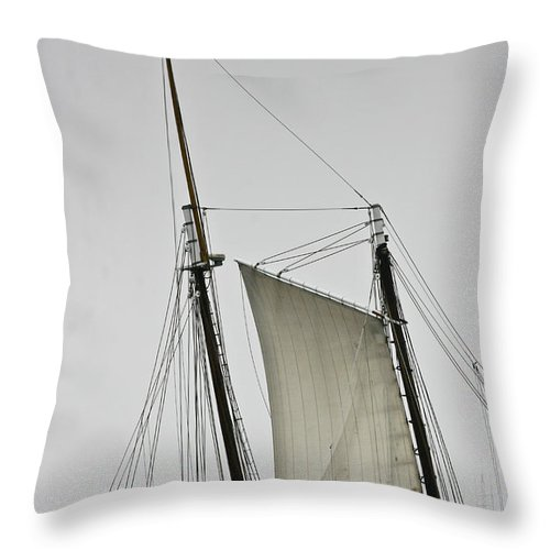 Boat Throw Pillow featuring the photograph Sails by Dennis Coates