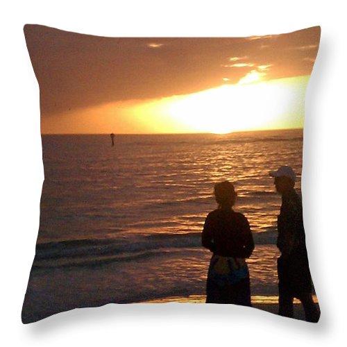 Sunset Throw Pillow featuring the photograph Sarasota Sunset by Gary Wonning