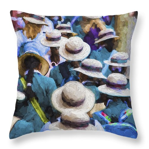 Sea Of Hats Throw Pillow featuring the photograph Sea of Hats by Sheila Smart Fine Art Photography