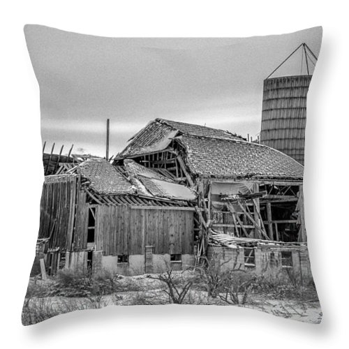 Barn Throw Pillow featuring the photograph Seen Its Better Days by Guy Whiteley