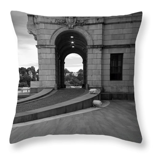 Providence Throw Pillow featuring the photograph Side Entrance by Lourry Legarde