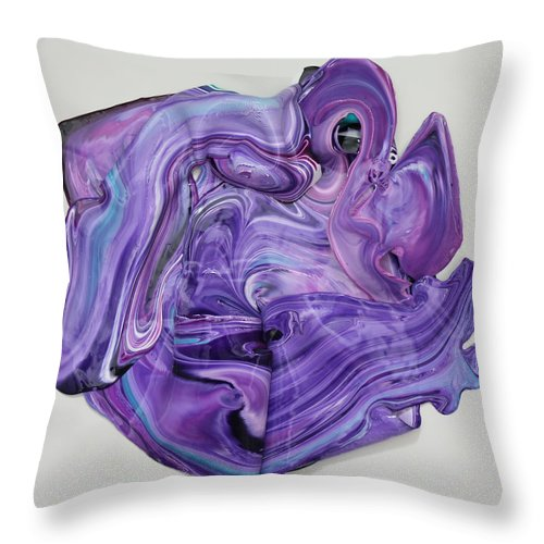 Fluid Throw Pillow featuring the painting Singularity 1 by Madeleine Arnett