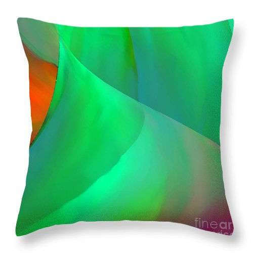 Abstract Throw Pillow featuring the digital art Softly by ME Kozdron