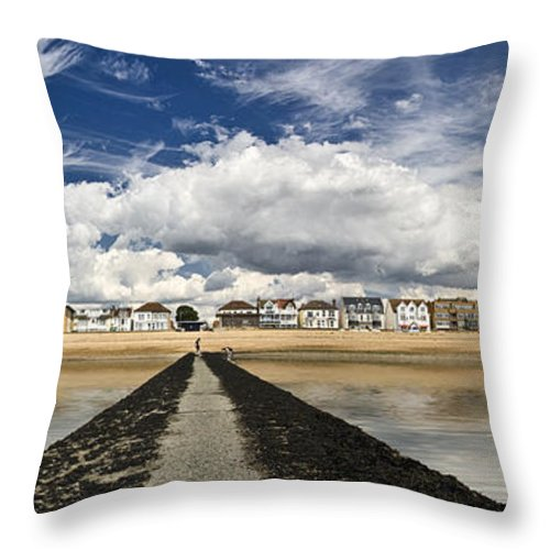 Southend On Sea Throw Pillow featuring the photograph Southend on Sea Panorama by Sheila Smart Fine Art Photography