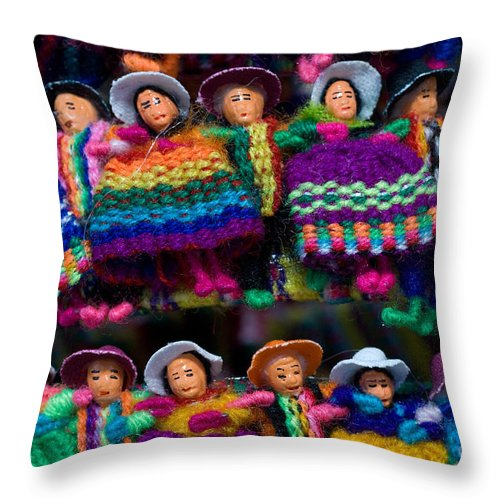 Guanajuato Throw Pillow featuring the photograph Souvenirs, Mexico by John Shaw