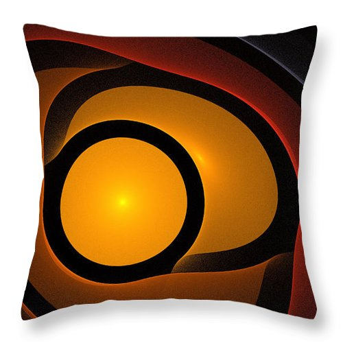 Digital Art Space Universe Sun Stars Sphere Color Colorful Expressionism Impresionism Abstract Fantasy 2 Throw Pillow featuring the painting Sphere 2 by Steve K