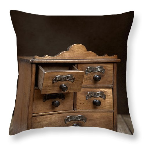 Spice Throw Pillow featuring the photograph Spice Cabinet by Amanda Elwell