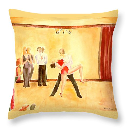 Halloween Throw Pillow featuring the painting Spirits Dont Reflect by Geeta Biswas