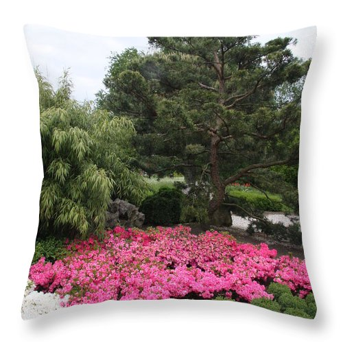Spring Throw Pillow featuring the photograph Springtime In The Park by Christiane Schulze Art And Photography
