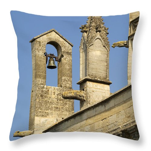 St Marthe Collegiate Church Throw Pillow featuring the photograph St Marthe Collegiate Church, France by John Shaw