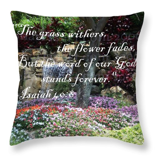 Inspirational Throw Pillow featuring the photograph Stands Forever by Pharris Art