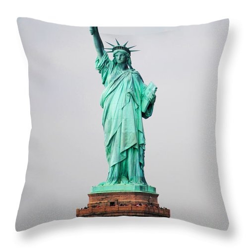 Statue Throw Pillow featuring the photograph Statue Of Liberty by Mickael Sherrill