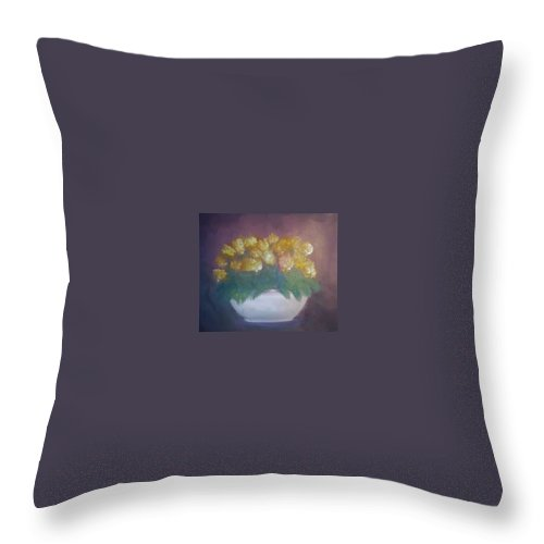 Still Life Throw Pillow featuring the painting Still Life by Sheila Mashaw