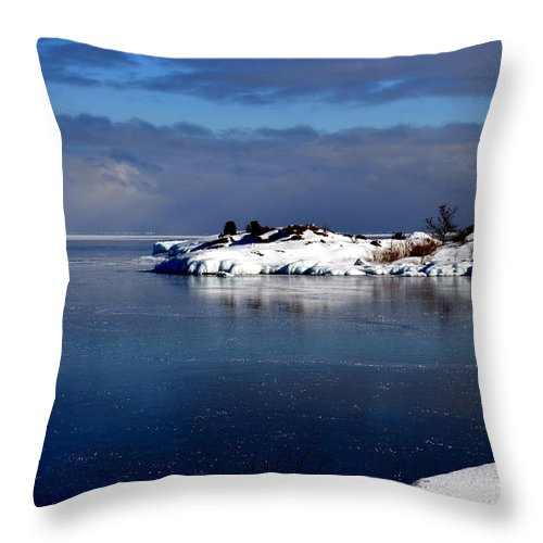 Water Throw Pillow featuring the photograph Calm Before The Storm by Jaunine Roberts