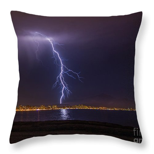 Throw Pillow featuring the photograph Storm by Eugenio Moya