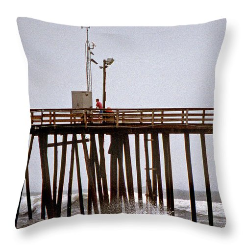 Maritime Throw Pillow featuring the photograph Storm Watch by Skip Willits