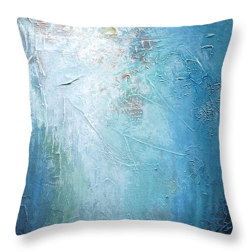 Bold Throw Pillow featuring the painting Study In Blue by Karen Hale