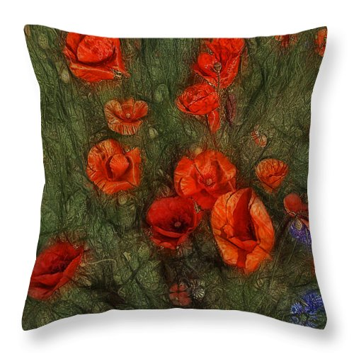 Corn Poppy Throw Pillow featuring the photograph Summer Wind by Joachim G Pinkawa